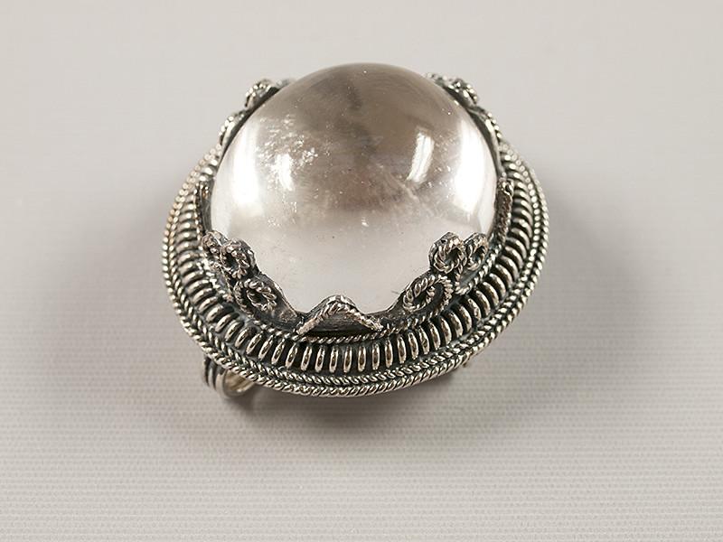 Broche/ hængesmykke, sølv