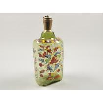 Brændevinsflaske med blomstermønster